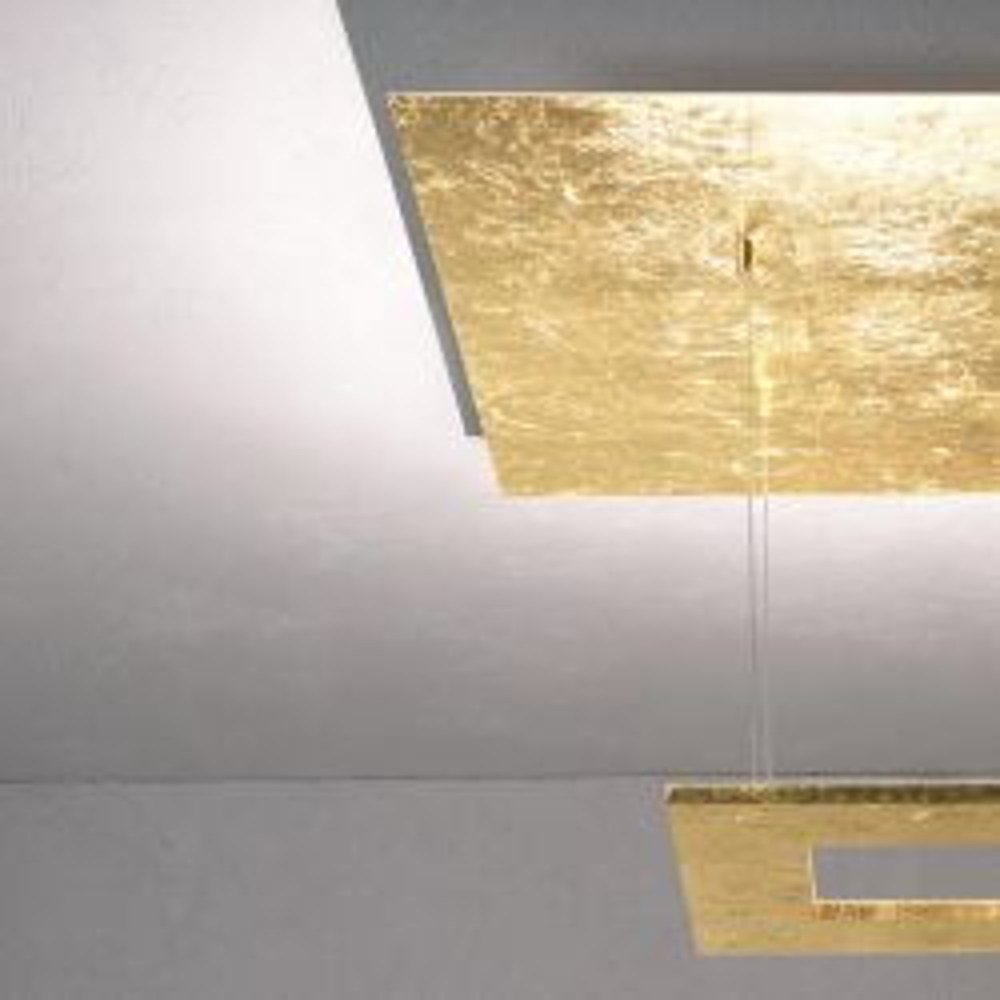 Escale Zen Due LED-Deckenleuchte-Blattgold