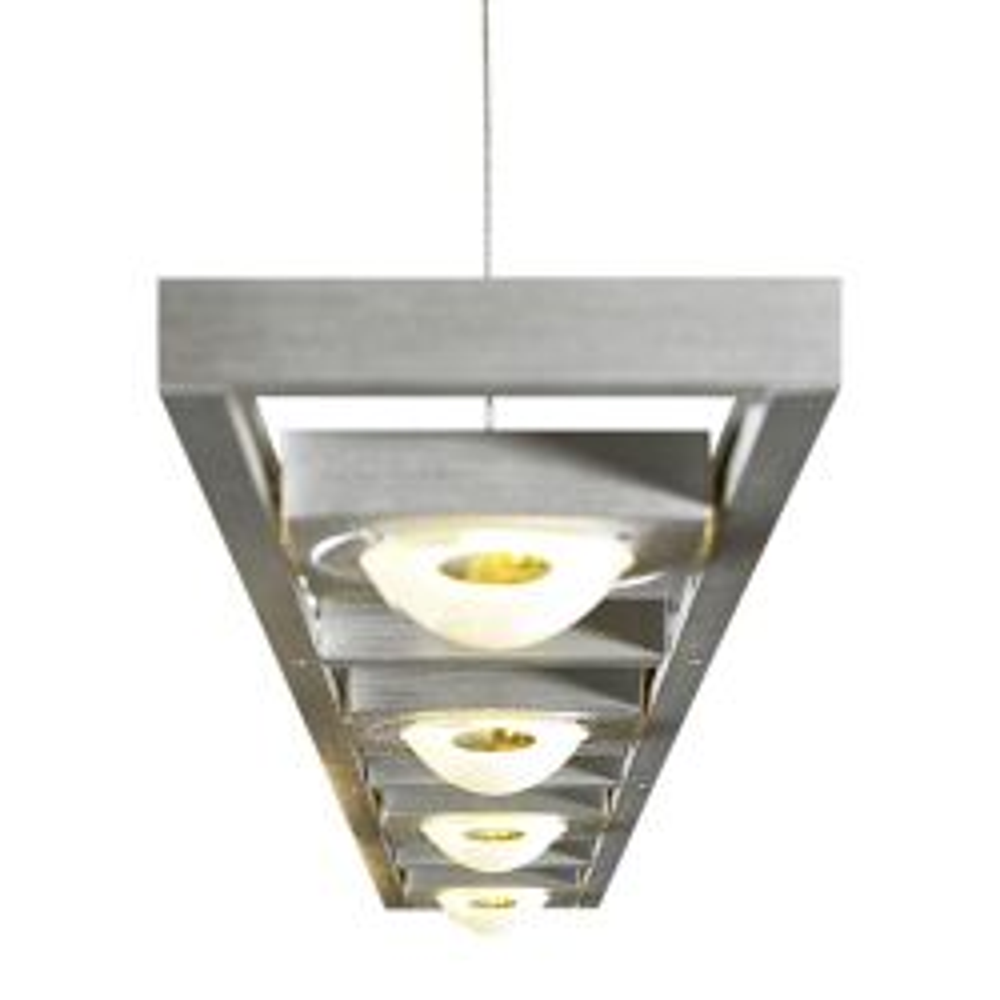 Casablanca Leuchten Ledios 4 LED-Pendelleuchte lang - Alu gebürstet, mit LED (2700K), mit Dimmer