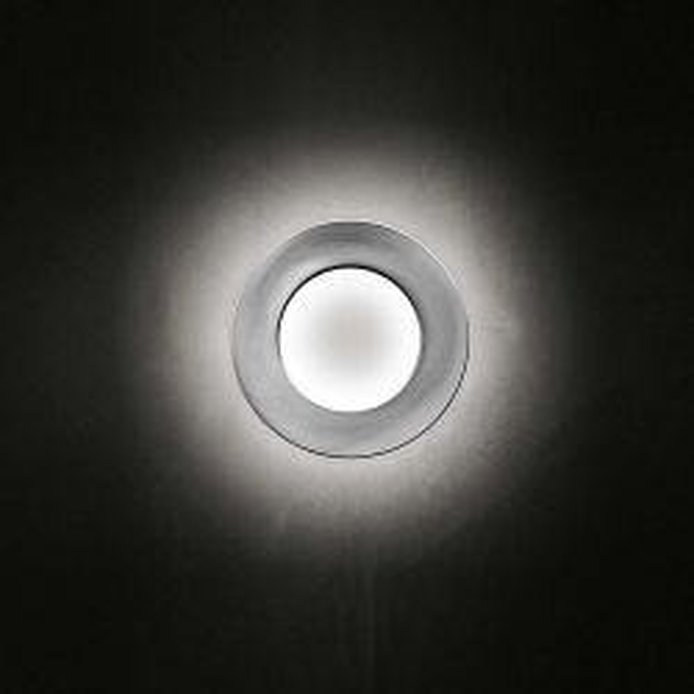 Minitallux Vera 66 LED Wand-/Deckenleuchte-Aluminium poliert/Weiß-mit LED (2700K)