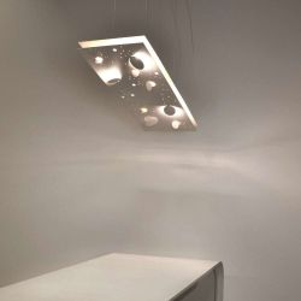 Knikerboker Buchi sospensione 100 LED-Pendelleuchte-Weiß