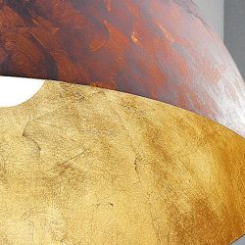Braga Dune S40 Pendelleuchte-Rost/Blattgold; mit LED
