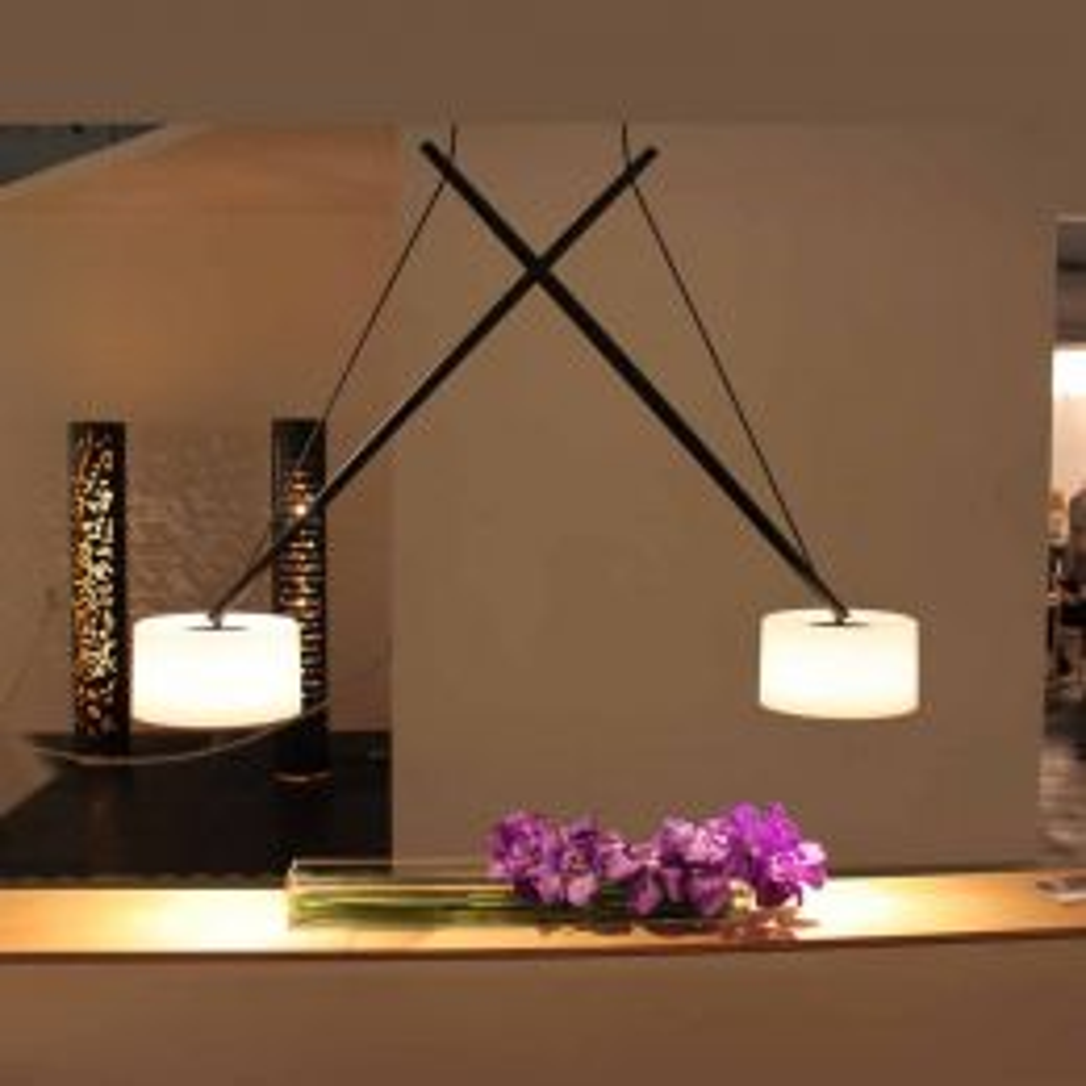 Serien Lighting Twin LED-Pendelleuchte-Aluminium Schwarz lackiert - Acrylglas; mit LED (2700K)