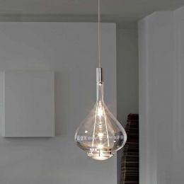 Studio Italia Design  Sky-Fall klein, LED-Pendelleuchte Transparent