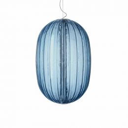 Foscarini Plass Media Sospensione Pendelleuchte Aquamarin