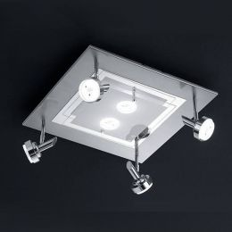 Bankamp Sika, LED-Deckenleuchte - Nickel matt/Chrom, mit LED (2900K)