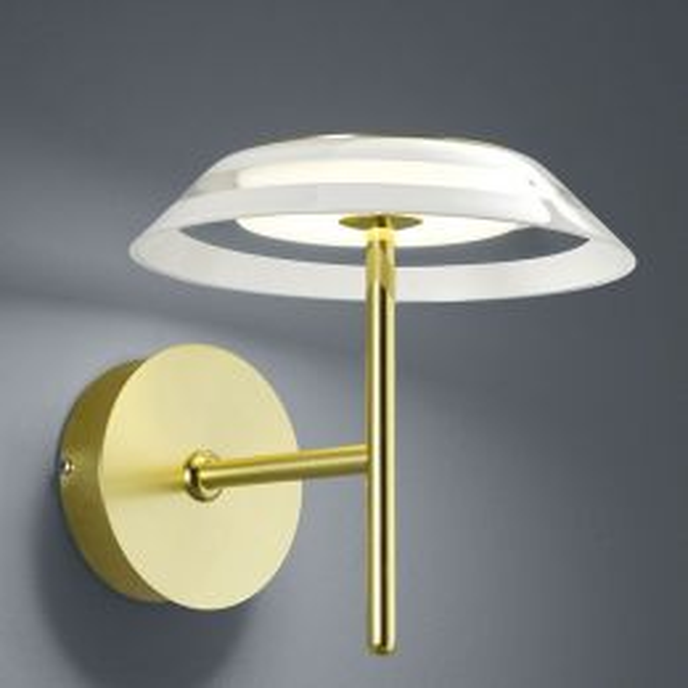 Bankamp Callas 4320 LED-Wandleuchte-Messing matt-mit LED (2700K)