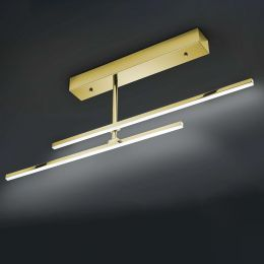 Bankamp Slim 7626 LED-Deckenleuchte Messing 01