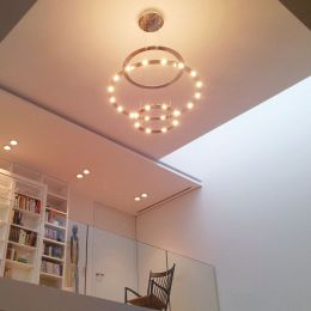 BYOK Piani Corona LED-Pendelleuchte-Aluminium poliert-mit LED (2700K)