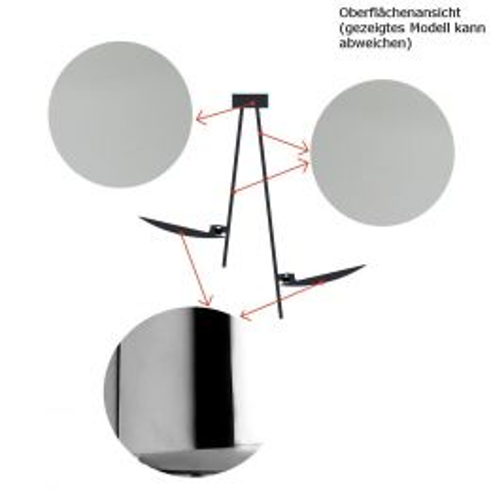 Catellani-Smith LEDERAM C1, LED-Deckenleuchte - Deckenhalterung: satiniert, Stab: satiniert, Kopf: chrom, mit LED (2700K)