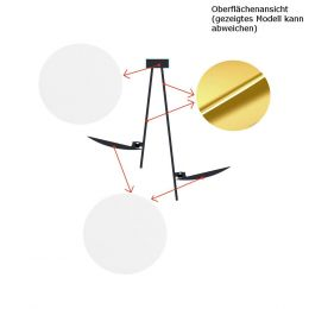 Catellani-Smith LEDERAM WB1, LED-Wandleuchte - Wandhalterung: weiß, Stab: gold, Kopf: weiß, mit LED (2700K)