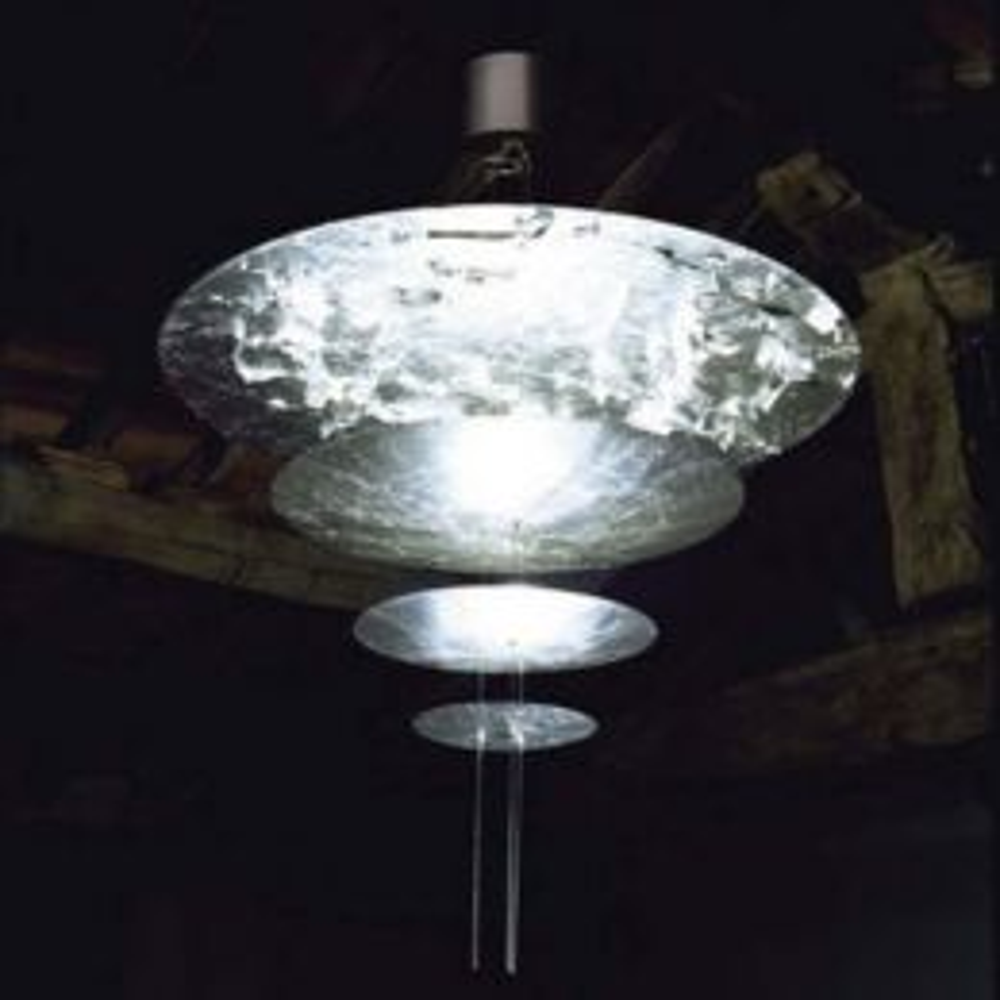 Catellani & Smith Macchina Della Luce Mod. F LED-Pendelleuchte  silber