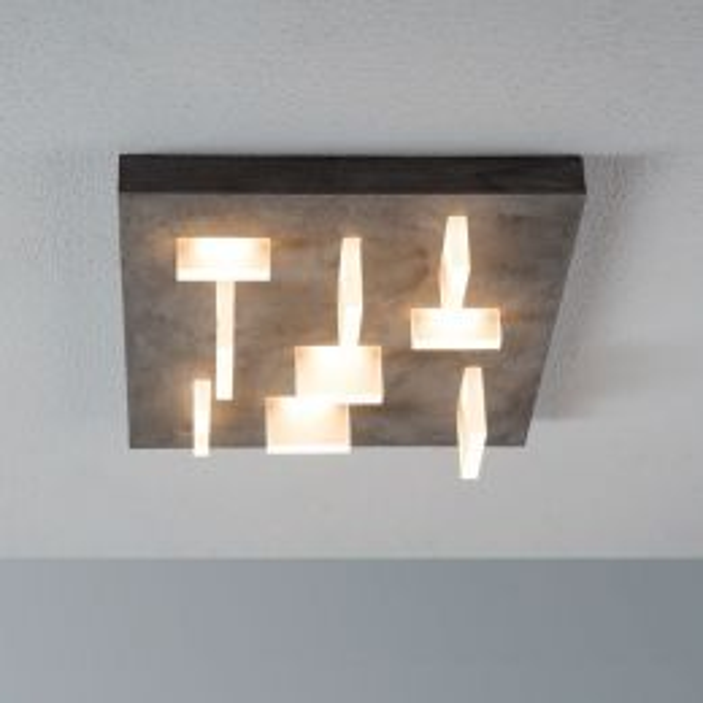 Escale Sharp LED-Deckenleuchte-Betonoptik; mit LED (2700K)