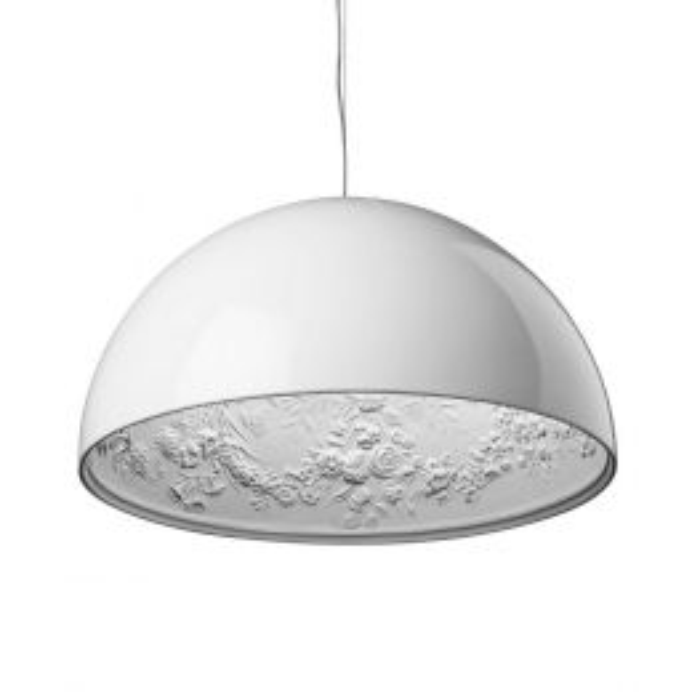 FLOS Skygarden S2 Pendelleuchte-Weiß glänzend