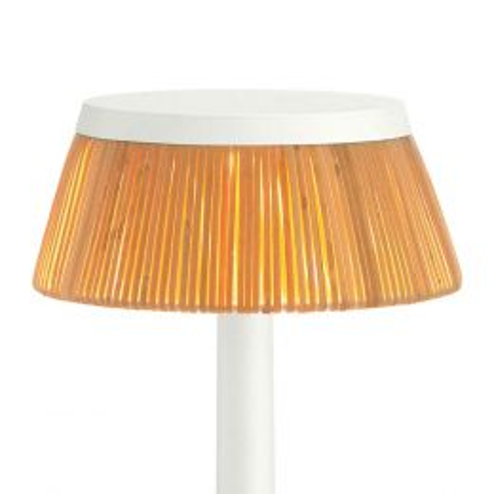 FLOS Schirm für Bon Jour Unplugged LED-Tischleuchte-Rattan