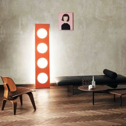Foscarini Dolmen LED-Stehleuchte-Orange; mit LED (2700K)