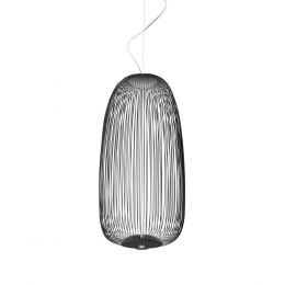 Foscarini Spokes 1 Sospensione LED-Pendelleuchte-Graphitschwarz; mit LED (2700K)