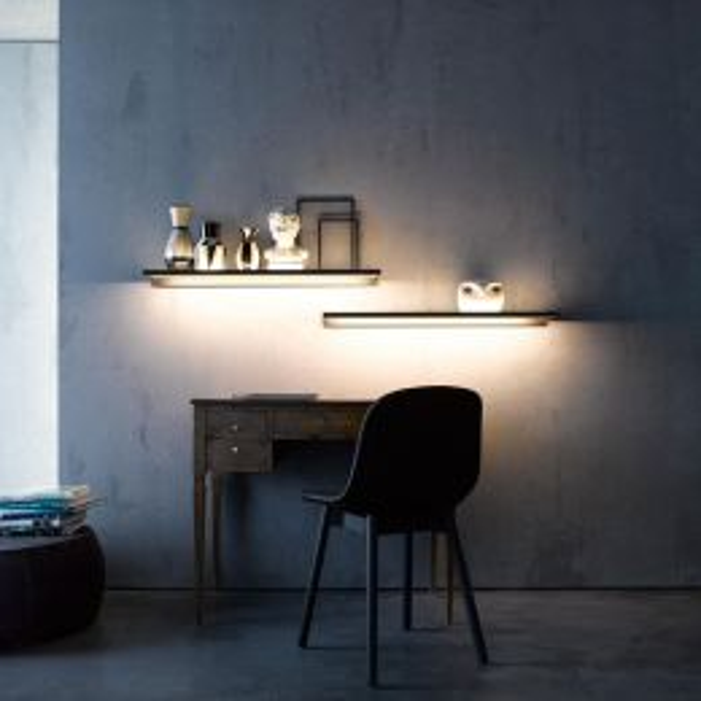 GERA Leuchten Glasablage 600 LED-Wandregal