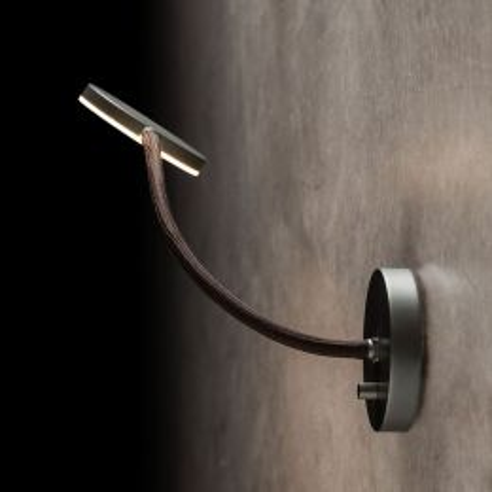 Holtkötter Flex W LED-Wandleuchte Platin Schwarz
