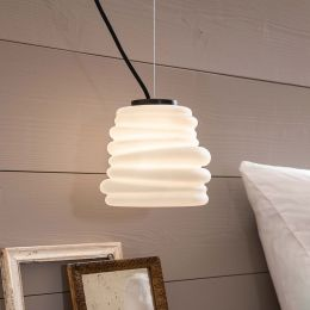 Karman Bibendum Piccola LED-Pendelleuchte Glas gefrostet