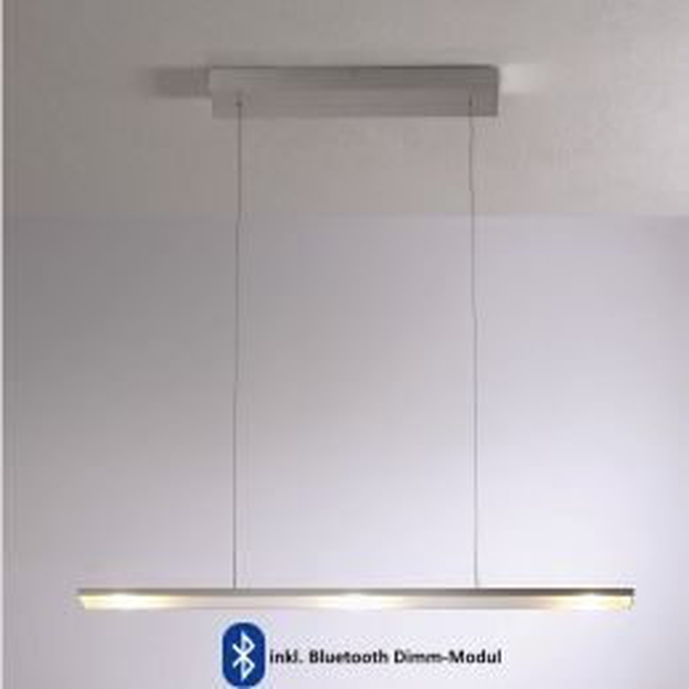 Bopp Leuchten LEDs Go 3-fl. Pendelleuchte-Aluminium geschliffen, mit LED (2700K), inkl. Dimm-Modul
