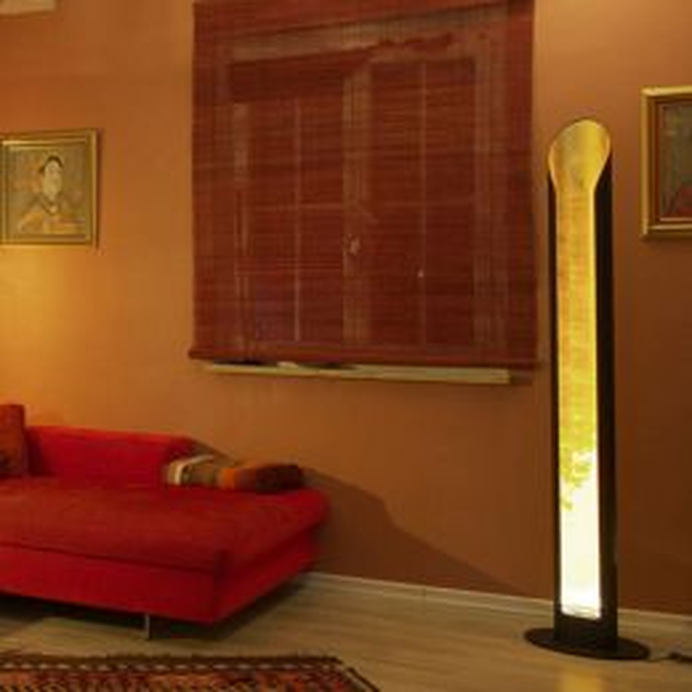 Luce Elevata Open Mind Standing LED Stehleuchte Blattsilber