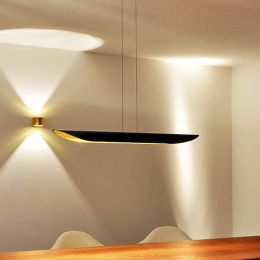 Luce Elevata Open Mind Suspension LED Pendelleuchte Blattgold