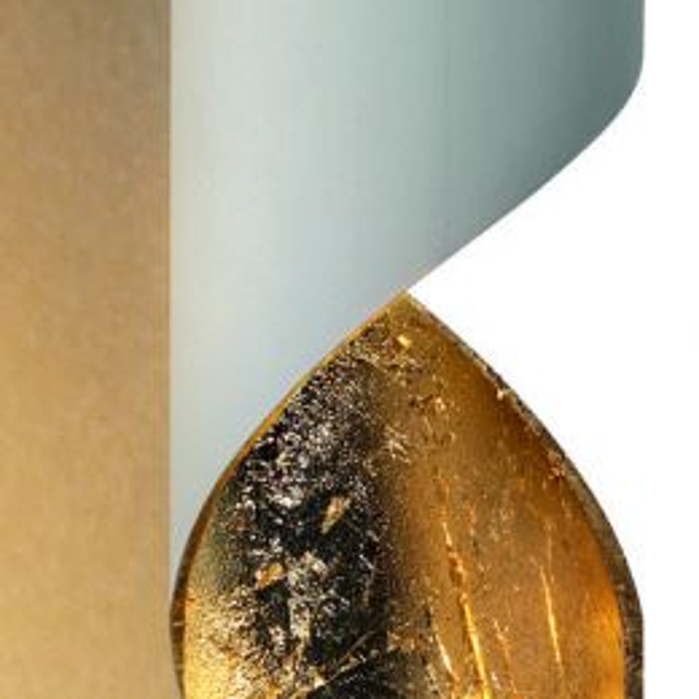 Braga Truciolo Stehleuchte-Weiß/Blattgold; mit LED