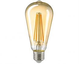 Sigor 7 Watt LED Rustikalampe Filament gold dimmbar