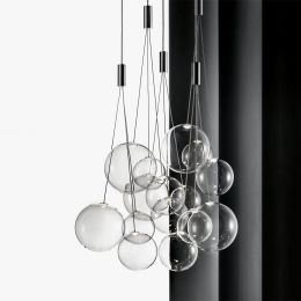 Studio Italia Design Random LED-Pendelleuchte 5-flammig