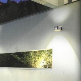 Top Light Puk Meg Maxx Wall Outdoor LED-Wandleuchte Linse/Glas