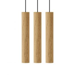 UMAGE Chimes Cluster 3 LED-Pendelleuchte Eiche hell