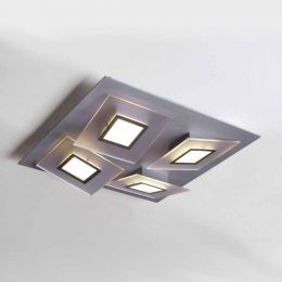 Bopp Leuchten Frame LED-Deckenleuchte 4-flg. quadratisch