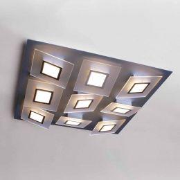 Bopp Leuchten Frame LED-Deckenleuchte 9-flg. quadratisch