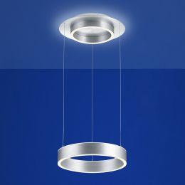 B-Leuchten Delta 20419 LED-Pendelleuchte Aluminium matt