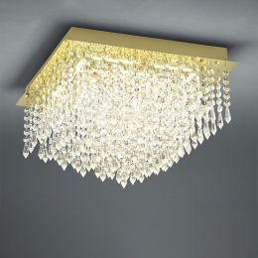 B-Leuchten Palace 70478 LED-Deckenleuchte Messing 01