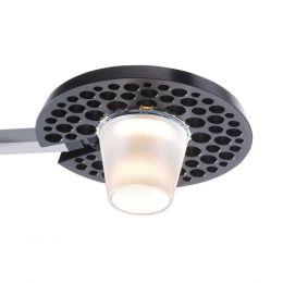 Baltensweiler Lys D 140 LED-Pendelleuchte-Schwarz - Aluminium-mit LED (2700K)