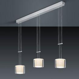 Bankamp Cecil 2158 LED-Pendelleuchte 2-flammig-Schirm grau-mit LED (2200K - 2700K)