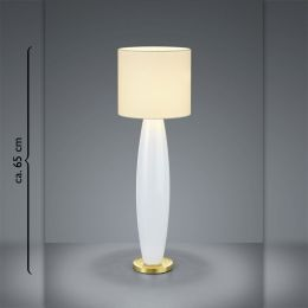 Bankamp Venice 5981 Tischleuchte Champagner Messing blank Glas opal weiß