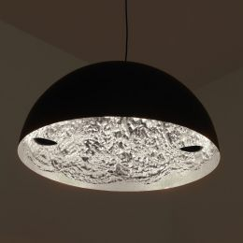 Catellani & Smith Stchu-Moon 02 Ø 80 cm LED-Pendelleuchte-Silber