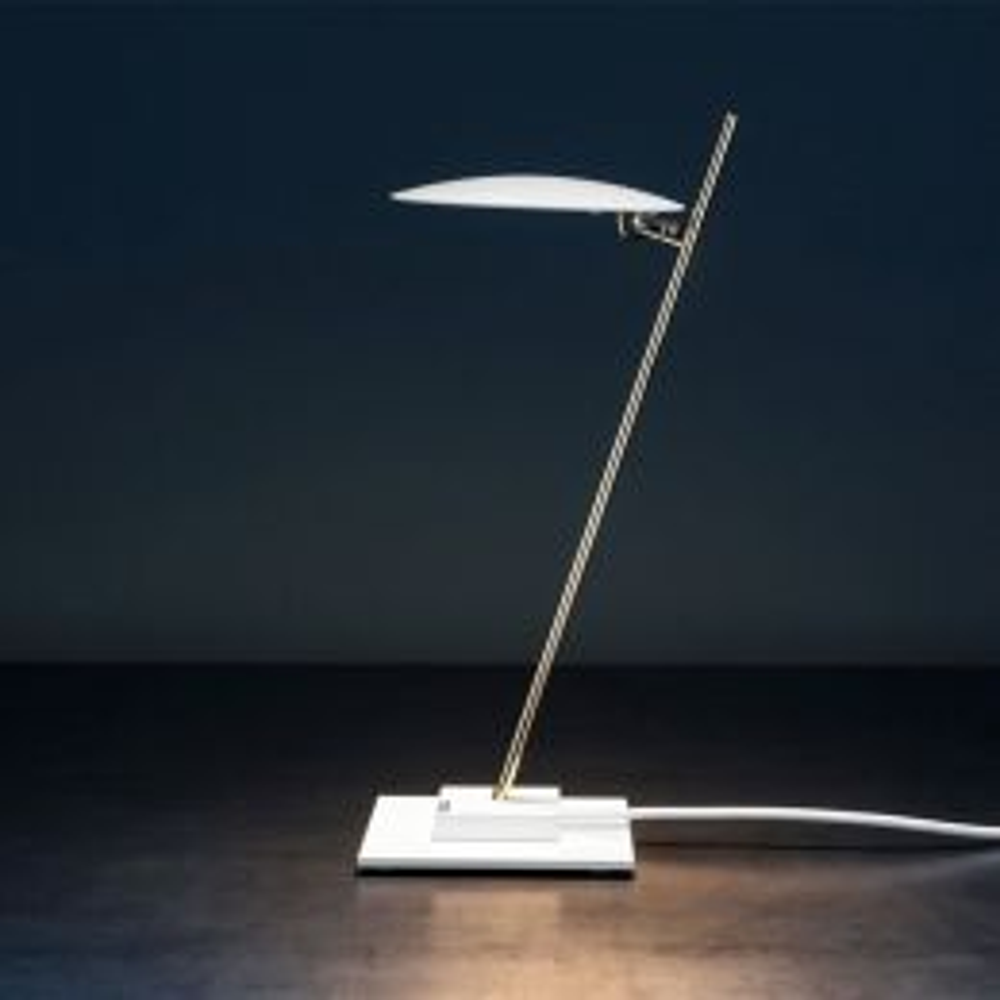 Catellani & Smith Lederam T1 LED-Tischleuchte Weiß 01