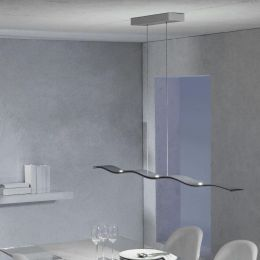 Escale Fluid LED-Pendelleuchte 7-flammig-Aluminium geschliffen-mit LED (2700K)