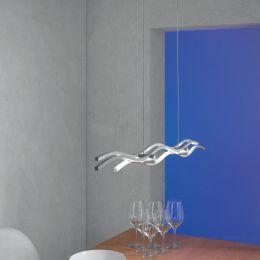 Escale Silk LED-Pendelleuchte kurz-Alu geschliffen; mit LED