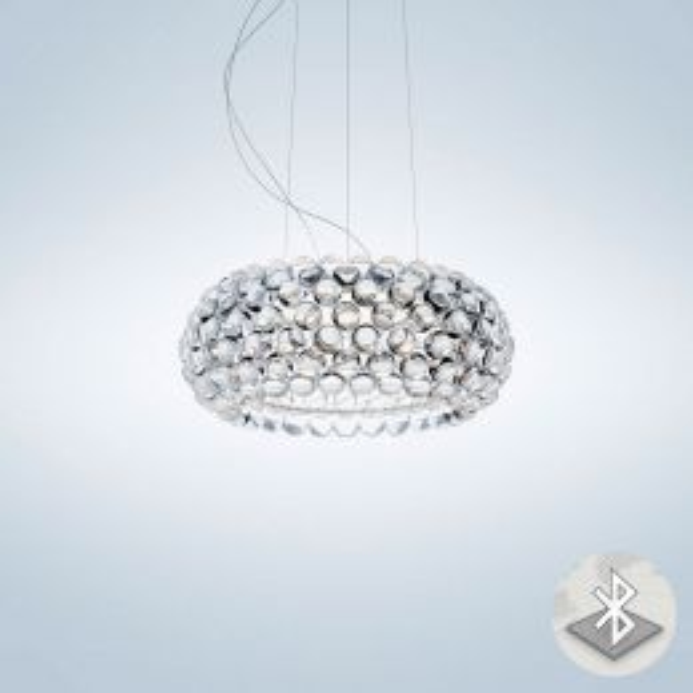 Foscarini Caboche Plus Media MyLight Sospensione LED-Pendelleuchte Transparent