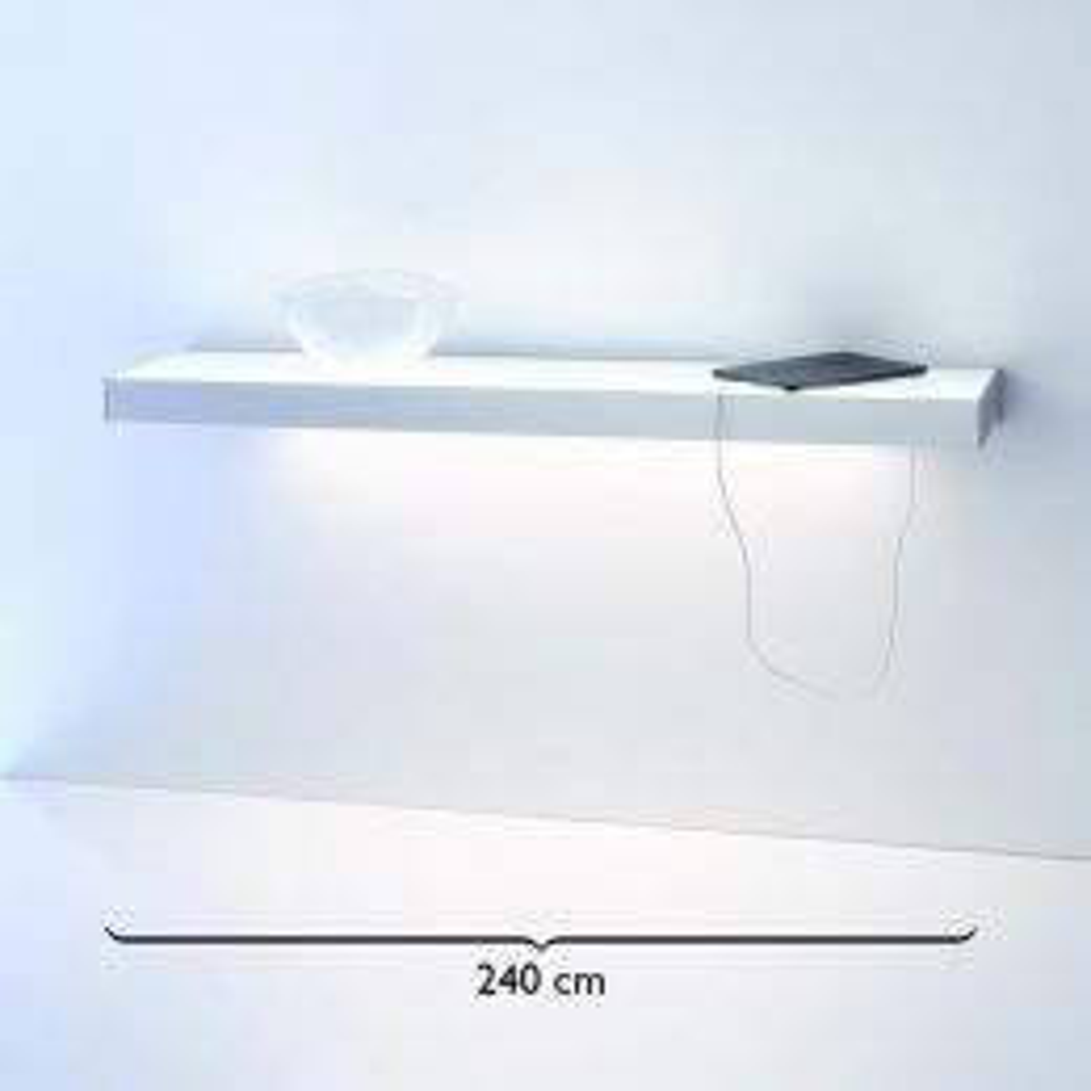 GERA Leuchten Lichtbord 2100 LED-Wandregal Edelstahl