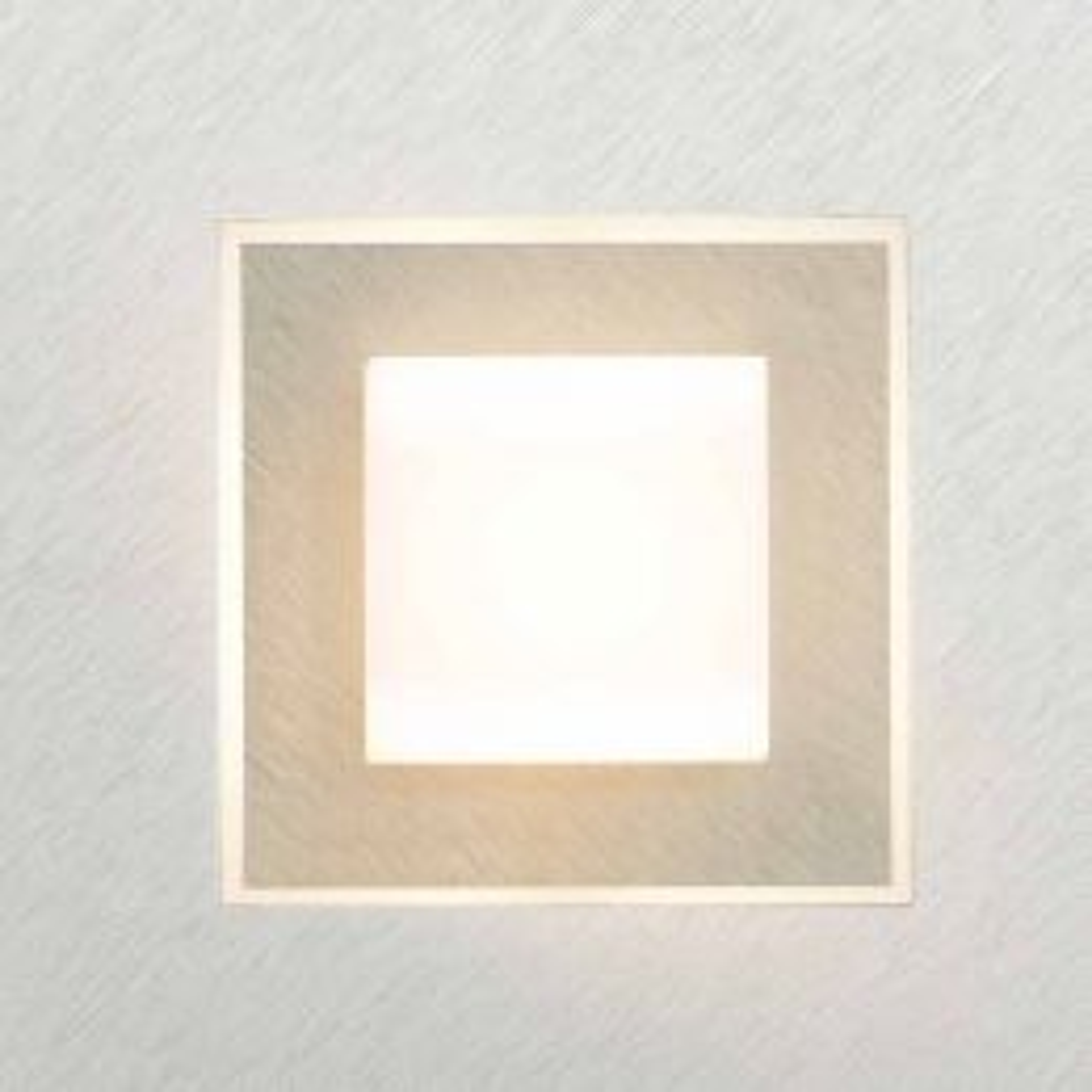Grossmann Leuchten Karree 72-783 LED-Wand-/Deckenleuchte -Alu gebürstet - Champagner; mit LED (2700K)