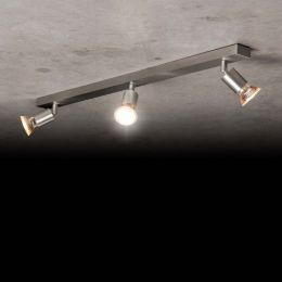 Holtkötter 4503 LED-Deckenstrahler 3-flammig-Aluminium matt