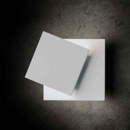 Holtkötter Cubic LED-Wandleuchte Aluminium Weiß