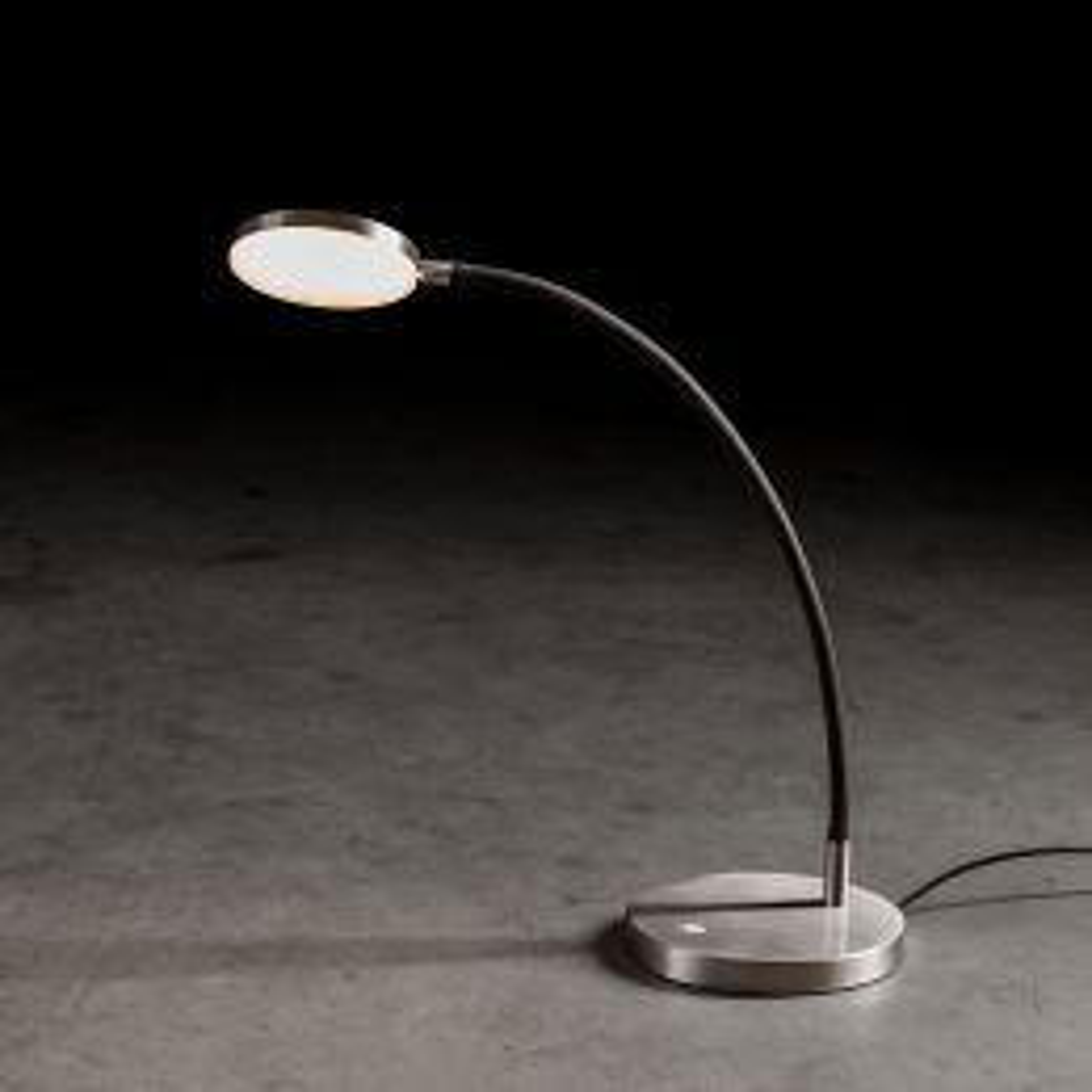 Holtkötter Flex T LED-Tischleuchte-Aluminium matt/Schwarz-mit LED (2700K)