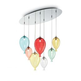 Ideal-Lux Clown Pendelleuchte 7-flammig