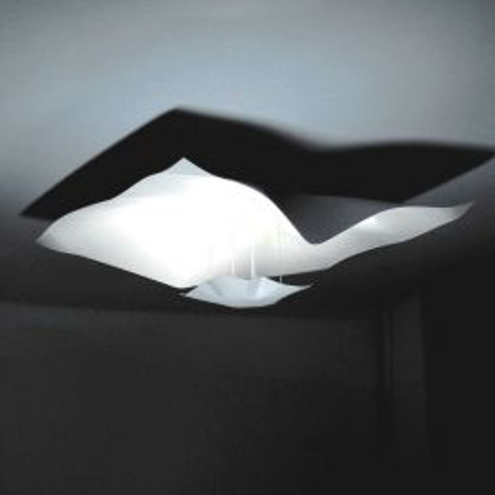 Knikerboker Crash 75x75 LED- Deckenleuchte - Weiß